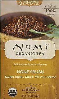 Numi Organic Tea Honeybush, 18 Count Box of Tea Bags (Pack of 6), Herbal Teasan