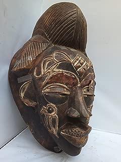 Antique Punu Mask from Gabon West Afrca 14x10 in