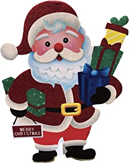 BRC Holiday Merry Christmas Lifesize Santa Double Sided Stand-up Cutout