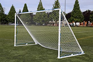 Portable, Aluminum Soccer Goal by Farpost, 3-Sizes-in-One, Perfect for Different Sized Games and Training, Used by Pro and Amateur Soccer Clubs