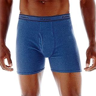 Hanes Men's 4-Pack FreshIQ Tagless Cotton Boxer with ComfortFlex Waistband Briefs