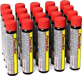 PowerBar Amino Mega Liquid - Aminosyror Komplex - Alla essentiella aminosyror i en ampull - Med Whey Hydrolysat - 20 ampuller
