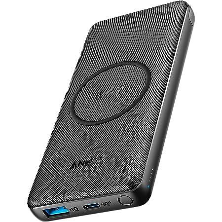 Anker PowerCore III 10000 Wireless (ワイヤレス充電機能搭載 10000mAh 大容量 モバイルバッテリー) 【ワイヤレス出力 10W / USB-Cポート出力 18W / PD対応 / Qi認証 / PSE認証】 iPhone 12 / 12 mini / 12 Pro Galaxy S20 AirPods Pro 各種対応