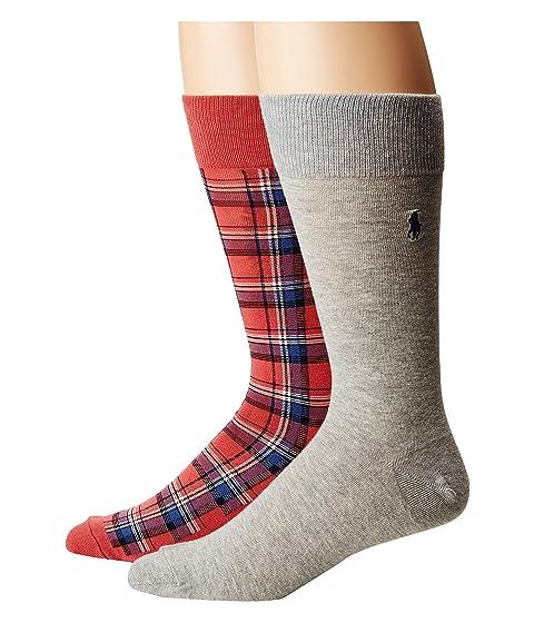Socks Pack Polo Plaid Ralph Lauren 2 q1pa06wB