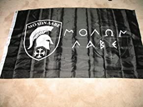 3x5 Molon Labe Come and Take It Flag Double Sided Black Greek 3 x 5 Foot