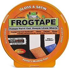 Frog Tape 104200 Oranje Glans & Satijn Schilders Masking Tape, Indoor Schilderen en Decoreren Voor Scherpe Lijnen en Geen ...