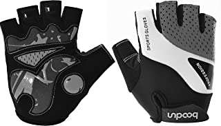 EASTUP JustFit 2018 Man and Woman Cycling Gloves Half Finger, Shock-Absorbing Anti-Slip Gel Padded Lightweight and Breathable, Comfort Moisture Permeability and Moisture Conductivity