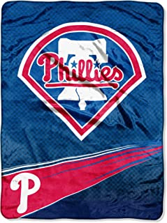 """Officially Licensed MLB Speed Raschel Throw Blanket, Soft & Cozy, Washable, Throws & Bedding, 60"""" x 80"""""""