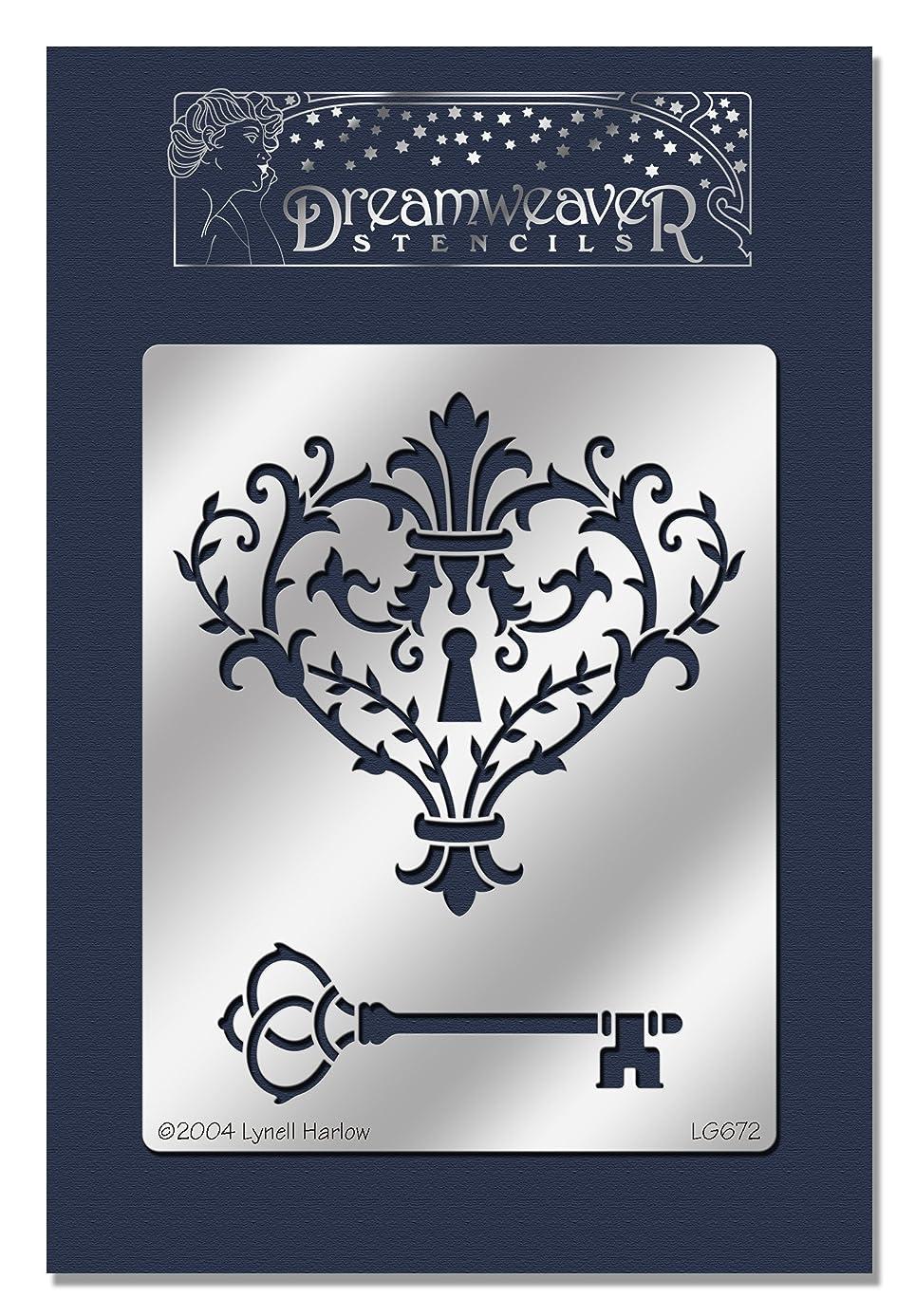 Stampendous DWLG672 Heart Lock Dreamweaver Metal Stencil, 7