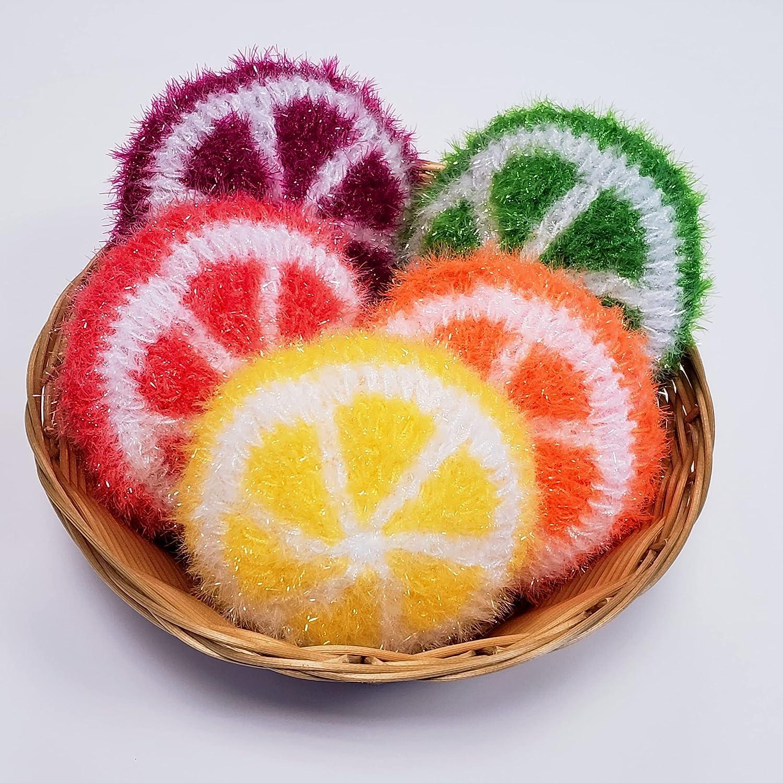 supreme 100% Handmade Dish famous Scrubber Crochet Scrubb Dishwash Design Fruit