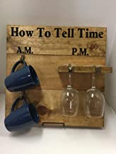 How To Tell Time, AM PM coffee and wine Special Walnut