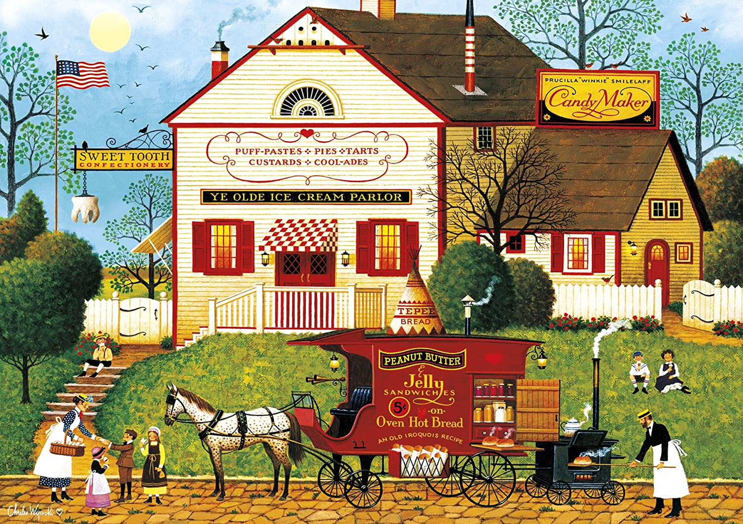 Buffalo Games - Charles Wysocki Sugar Large Piec OFFicial mail order 300 Our shop most popular Spice