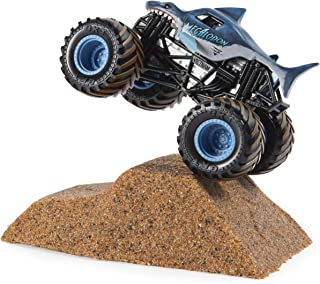 Monster Jam Megalodon Monster Dirt Starter Set, Featuring 8 Ounces of Monster Dirt & Monster Truck
