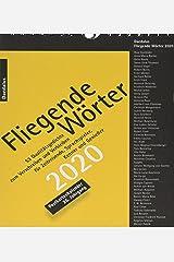 Fliegende Wörter 2020: 53 Qualitätsgedichte zum Verschreiben und Verbleiben Kalender