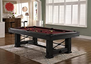 Playcraft Rio Grande 8' Slate Pool Table with Weathered Raven Finish