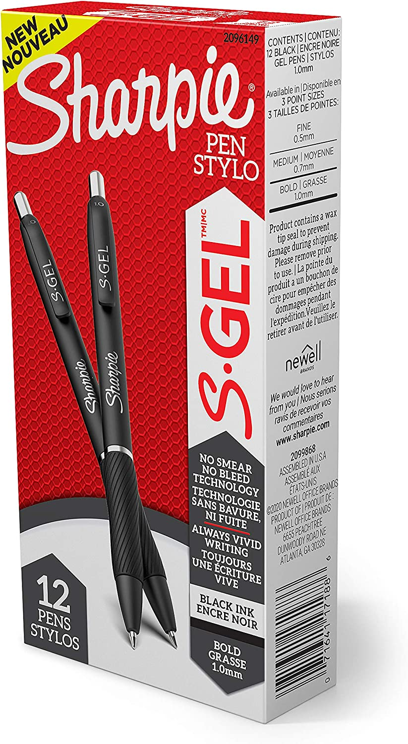 Genuine Free Shipping Sharpie All stores are sold S-Gel Gel Pens Bold 1.0mm Pen Ink Black Point