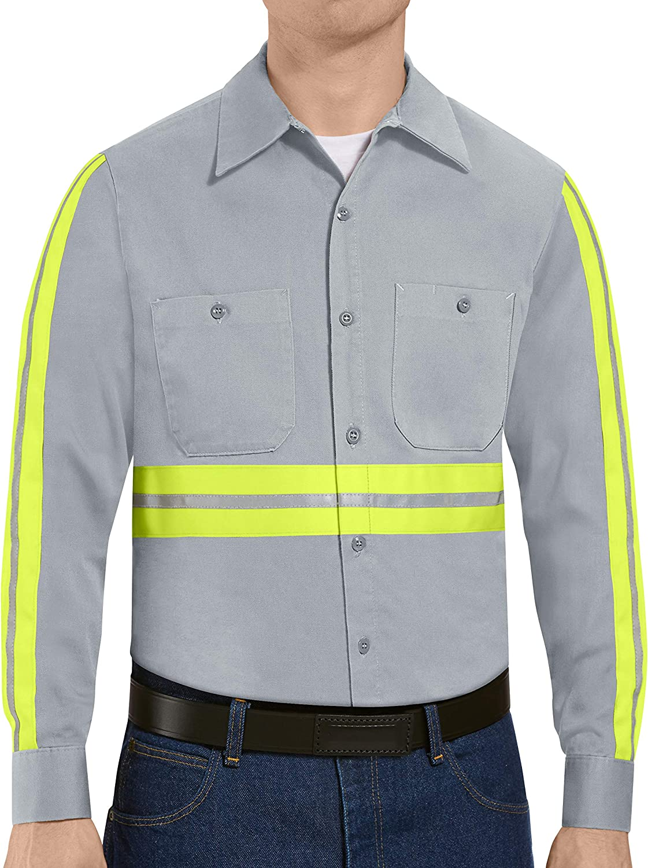 Red Kap Men's Tall Size Short Sleeve Wrinkle-Resistant Cotton WorkShirt