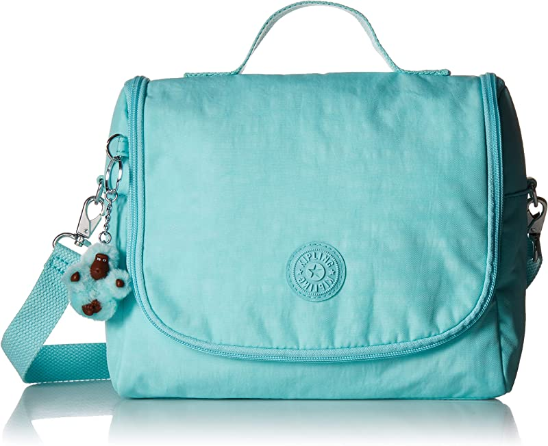 Kipling Kichirou Insulated Lunch Bag Removable Adjustable Crossbody Strap Zip Closure Fresh Teal Tonal