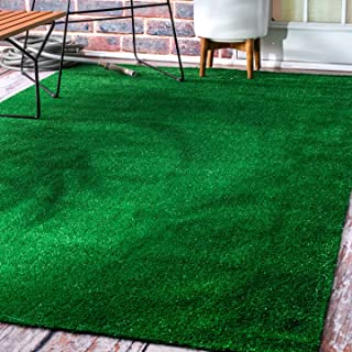 nuLOOM Grass Outdoor Rug, 5' x 8', Green