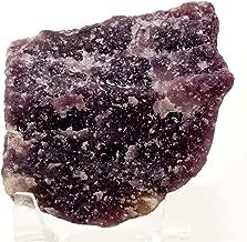 76mm Rich Purple Lepidolite Rough Natural Sparkling Flower Sugilite Crystal Cab Mineral Gemstone Raw - Brazil
