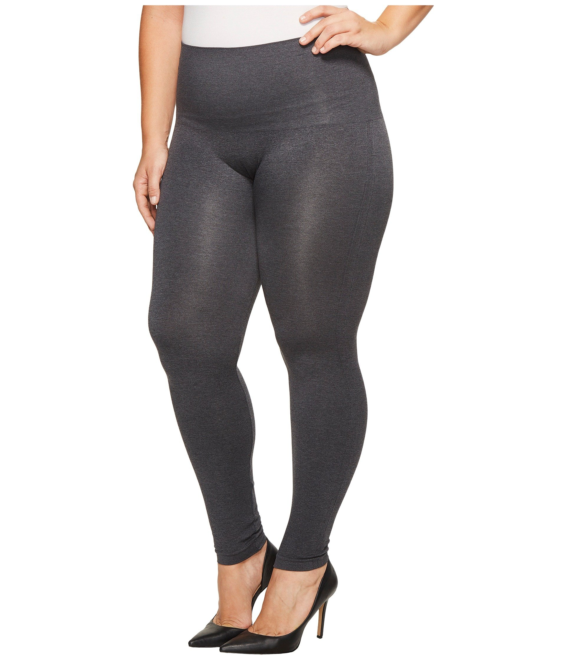 Spanx plus size seamless print leggings at for Plus size spanx for wedding dress