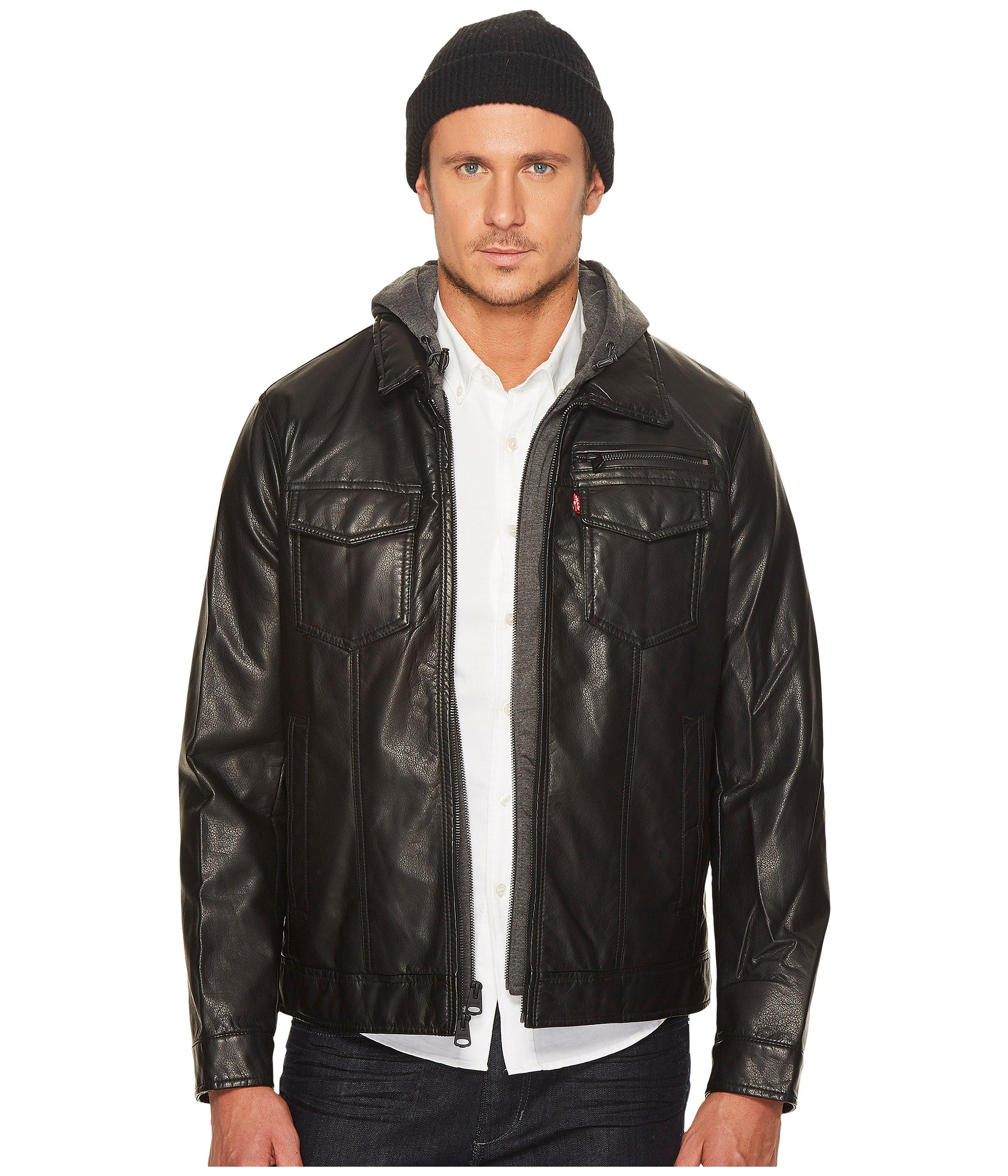 Levis Coats Outerwear Men Shipped Free At Zappos Jaket Parka Blazer Baby Canvas Cotton Faux Leather Trucker With Jersey Hood And Fleece Lining