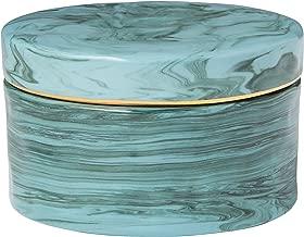"""Rivet Modern Porcelain Jewelery Box, 2.4""""H, Green"""