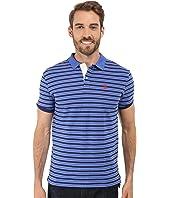 U.S. POLO ASSN. - Slim Fit Micro Shadow Stripe Polo Shirt