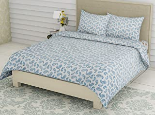 Linenwalas King Size Bed Sheets with Pillow Covers | 300 TC Premium Cotton Bedsheet Easy Wash Soft Sateen Weave 108x108 in...