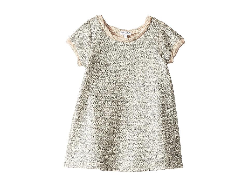 Splendid Littles Lurex Short Sleeve Dress (Toddler) (Pale Dogwood) Girl