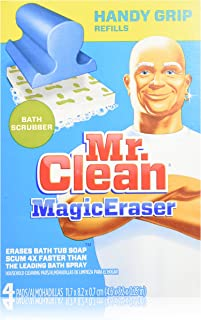 Mr. Clean Magic Eraser Handy-Grip Bath Refills, 4 Count