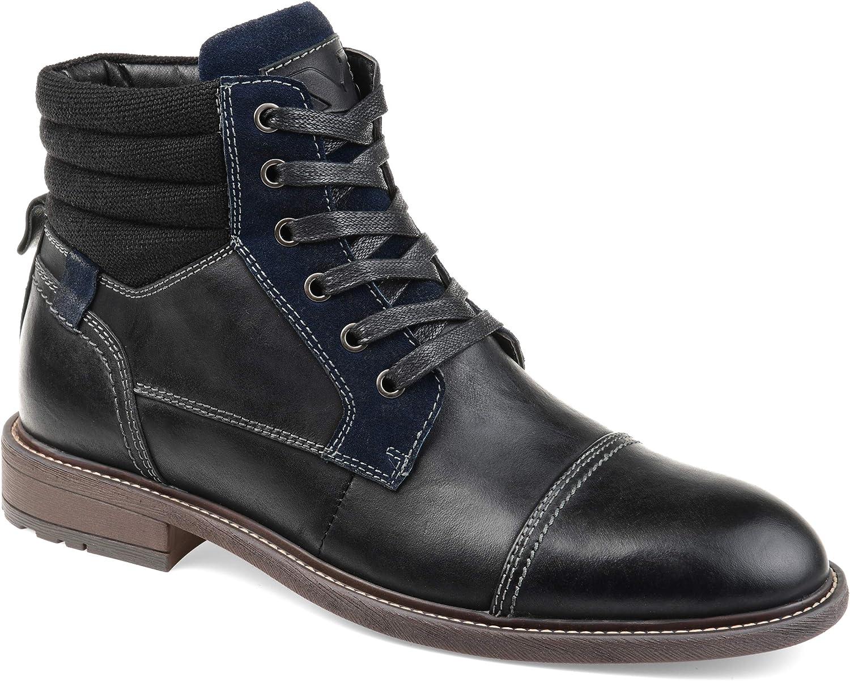 Vance Co. Men's Everett Cap Toe Boot Fresno Mall 40% OFF Cheap Sale Ankle