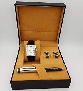 New Fande Watch Set For Men Analog Leather - NF08656