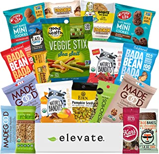 Healthy GLUTEN FREE and VEGAN Premium Snacks Gift Basket [ 20 Count ] An Elegant, Plant-Based Snack Box: Fruit, Nuts, Cookies, Veggie Snacks, A Care Package For Adults, Kids (DAIRY FREE)