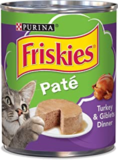 Purina Friskies Pate Wet Cat Food, Turkey & Giblets Dinner - (12) 13 oz. Cans