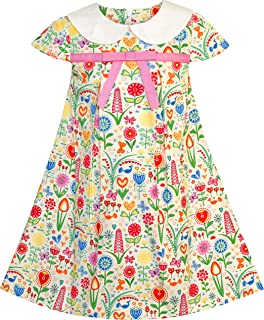 6058bf4caf00f Sunny Fashion Robe Fille sans Manches Rose Chouette A-Ligne Coton  Décontractée 2-6
