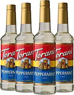 Torani Syrup, Peppermint, 25.4 Ounces (Pack of 4)