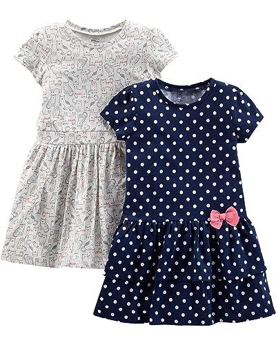 12bb042b2 Navy Toddler Dress: Amazon.com