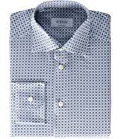 Contemporary Fit Flower Medallion Button-Down
