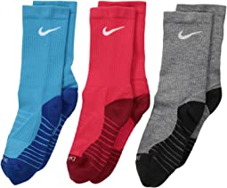 Nike Kids - Dry Cushion Crew Socks 3-Pair Pack (Toddler/Little Kid/Big Kid)