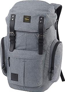 Daypacker Alltagsrucksack im Retro Look mit Gepolstertem Laptopfach, Schulrucksack, Wanderrucksack oder Streetpack