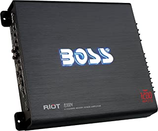 BOSS Audio Systems R3004 4 Channel Car Amplifier - 1200 Watts, 2/4 Ohm Stable, Class A/B, Full Range, Bridgeable, MOSFET P... photo