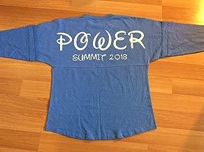 Handmade Disney Power Summit Pom Pom Jersey/Disney Cheer leading Shirt