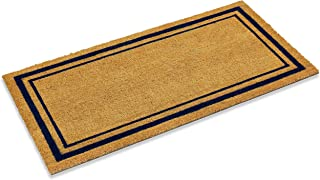 Kempf Double Border Large Coco Coir Mat, Rubber Vinyl Backing, Great for Double Doors, Indoor Outdoor Entrance Rug, 24 x 4...