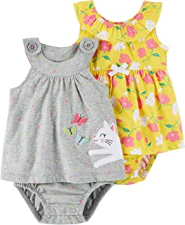 Baby Girls' 2-Pack One-Piece Romper