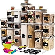 Juego de 52 recipientes de almacenamiento de alimentos (26 contenedores) Shazo hermético para alimentos secos ahorran espa...