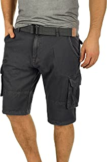 2cf7fc8633 Indicode Costa Pantalón Cargo Bermudas Pantalones Cortos para Hombres con  Cinturón de 100% Algodón Regular