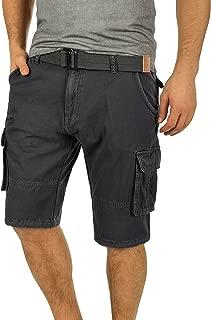 Costa Pantalón Cargo Bermudas Pantalones Cortos para Hombres con Cinturón de 100% Algodón Regular-Fit