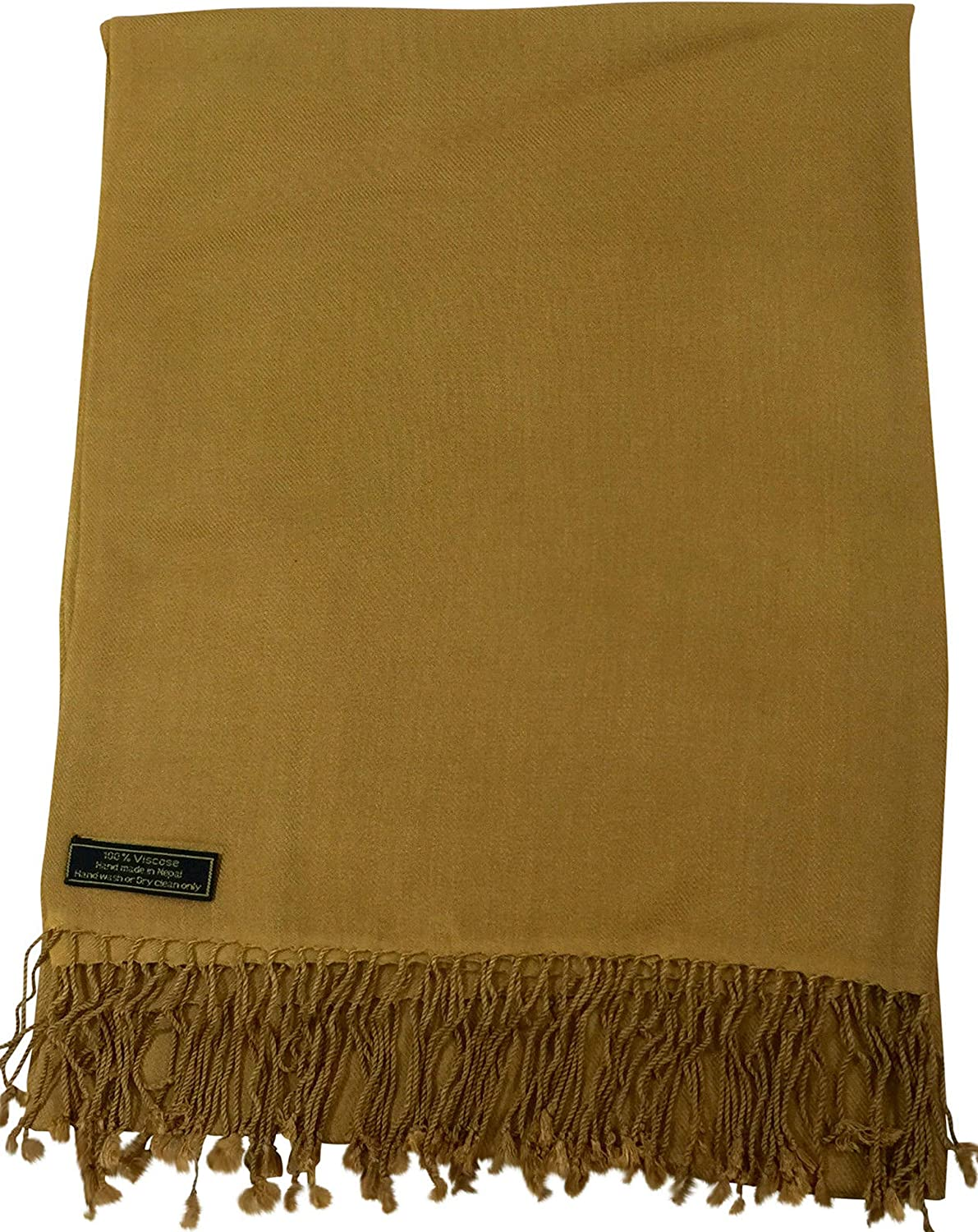 Camel Brown Solid color Design Shawl Pashmina Scarf Wrap Stole CJ Apparel NEW