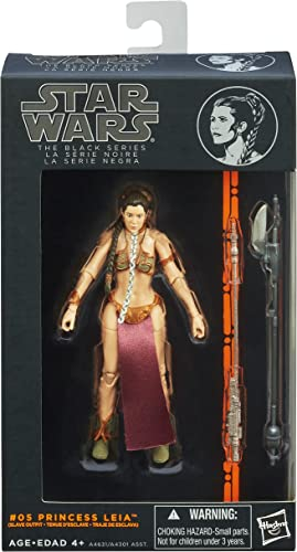 están haciendo actividades de descuento Star Wars The negro Series  05 05 05 Princess Leia Slave Outfit 6 Inch Figure by Hasbro  Mercancía de alta calidad y servicio conveniente y honesto.
